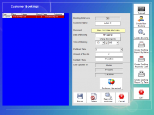 POS Software - Table Booking